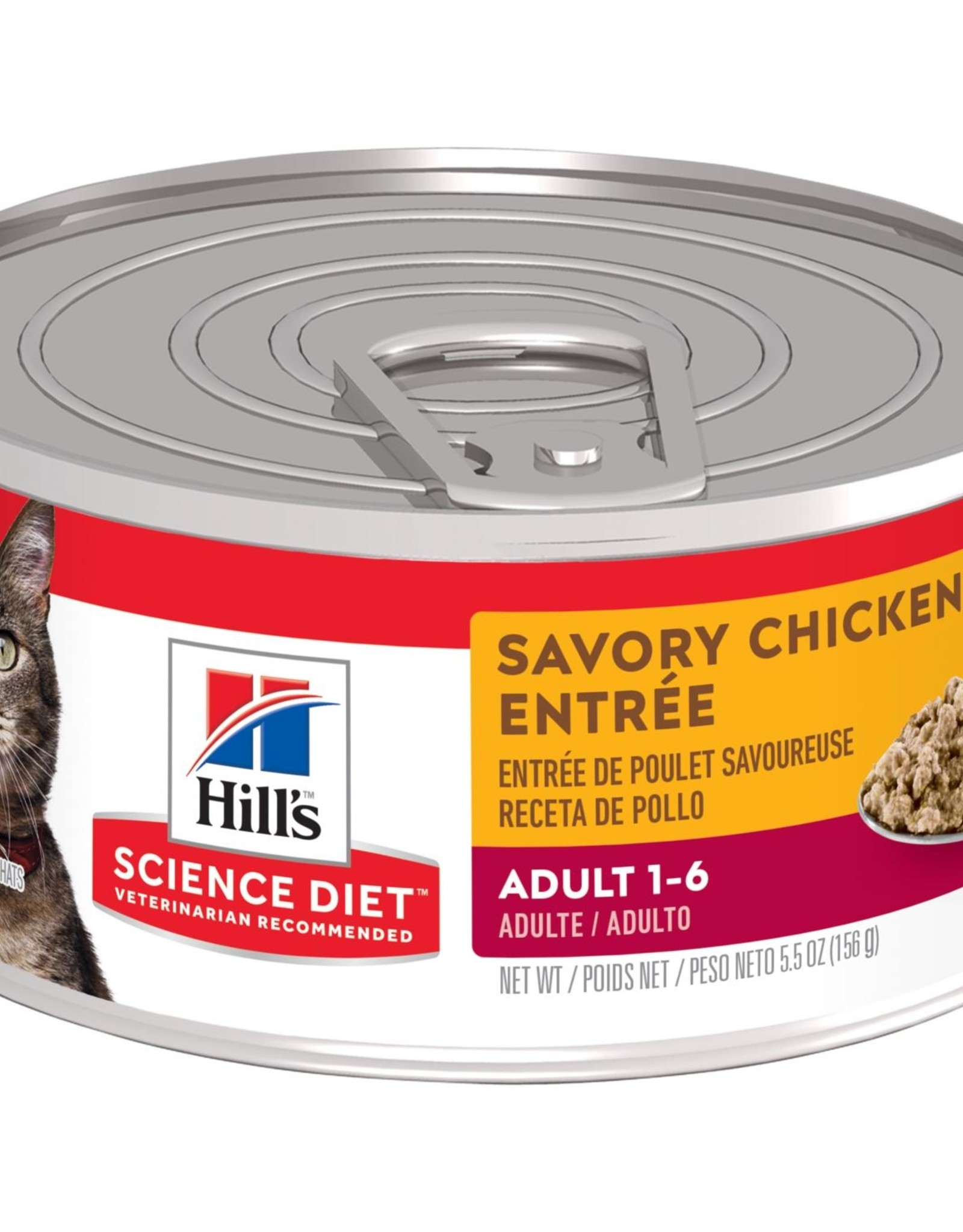 SCIENCE DIET HILL'S SCIENCE DIET FELINE CAN ADULT SAVORY CHICKEN 5.5OZ CASE OF 24