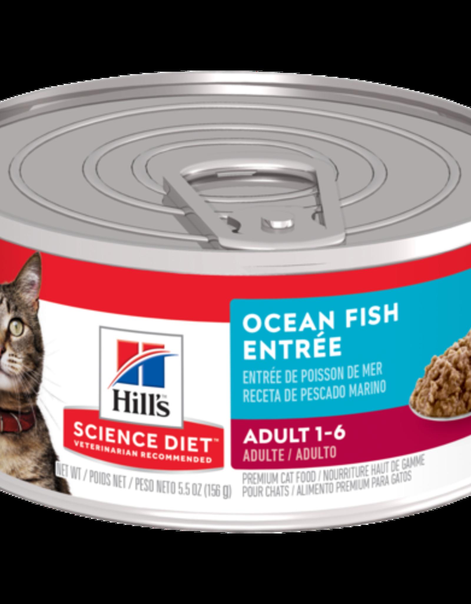 SCIENCE DIET HILL'S SCIENCE DIET FELINE CAN ADULT INDOOR OCEAN FISH 3OZ CASE OF 24