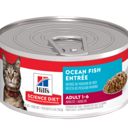 SCIENCE DIET HILL'S SCIENCE DIET FELINE CAN ADULT INDOOR OCEAN FISH 3OZ CASE OF 24