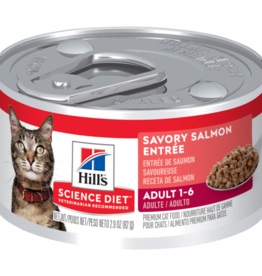 SCIENCE DIET HILL'S SCIENCE DIET FELINE CAN ADULT SAVORY SALMON 5.5OZ CASE OF 24