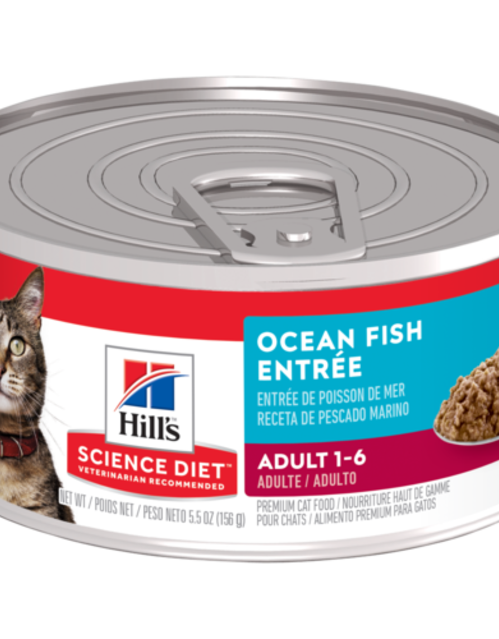 SCIENCE DIET HILL'S SCIENCE DIET FELINE CAN ADULT SAVORY SEAFOOD 5.5OZ