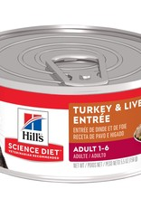 SCIENCE DIET HILL'S SCIENCE DIET FELINE CAN ADULT TURKEY & LIVER 5.5OZ