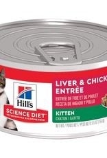 SCIENCE DIET HILL'S SCIENCE DIET FELINE CAN KITTEN LIVER & CHICKEN 5.5OZ CASE OF 24