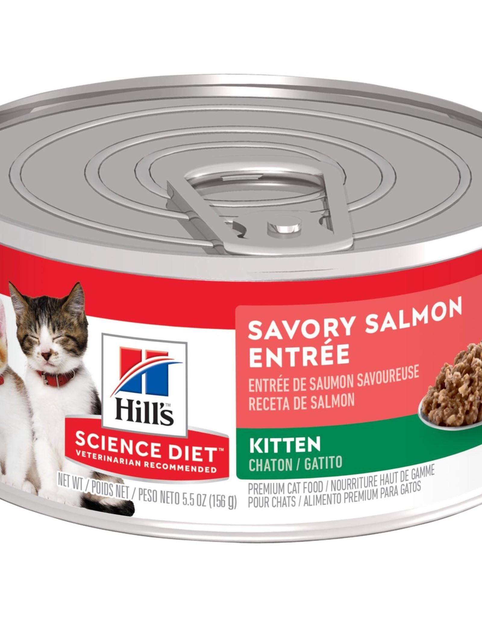 SCIENCE DIET HILL'S SCIENCE DIET FELINE CAN KITTEN SAVORY SALMON 5.5OZ CASE OF 24