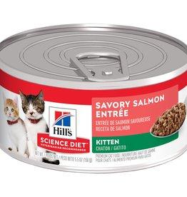 HILL'S HILL'S SCIENCE DIET FELINE CAN KITTEN SAVORY SALMON 5.5OZ CASE OF 24