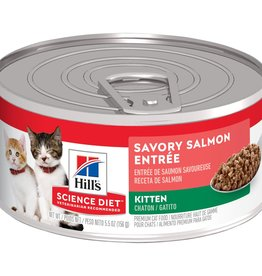 SCIENCE DIET HILL'S SCIENCE DIET FELINE CAN KITTEN SAVORY SALMON 2.9OZ CASE OF 24