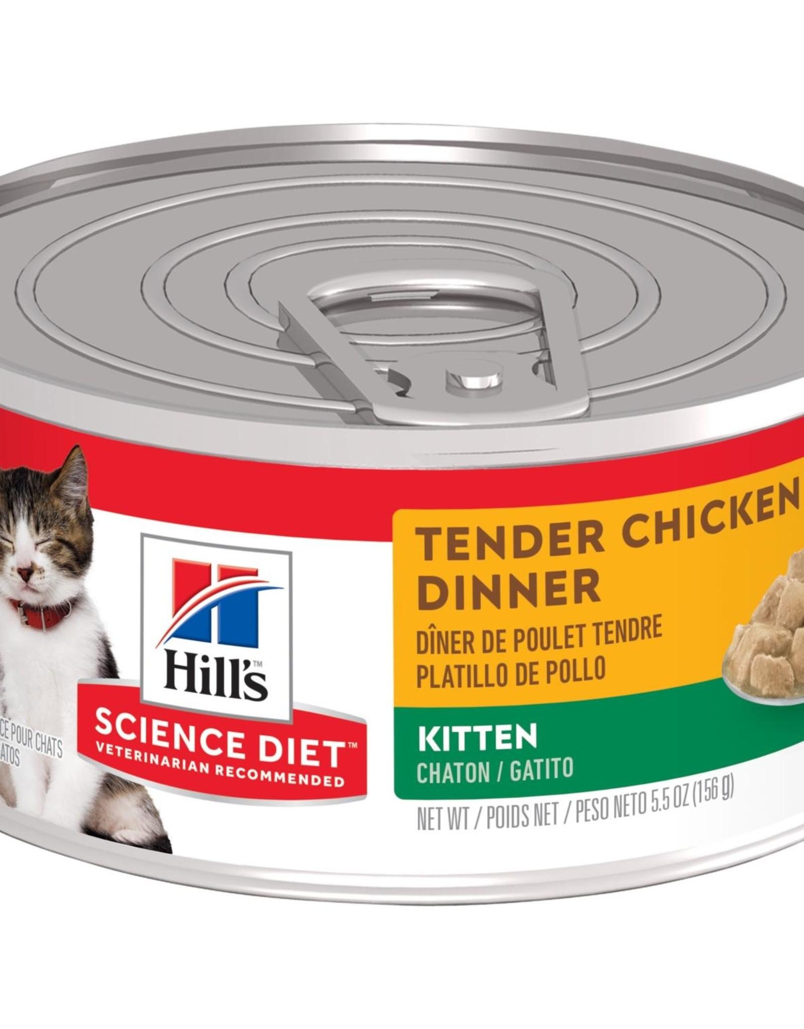 SCIENCE DIET HILL'S SCIENCE DIET FELINE CAN KITTEN TENDER CHICKEN DINNER 5.5OZ