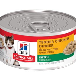 SCIENCE DIET HILL'S SCIENCE DIET FELINE CAN KITTEN TENDER CHICKEN DINNER 5.5OZ CASE OF 24