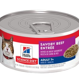 SCIENCE DIET HILL'S SCIENCE DIET FELINE CAN MATURE GOURMET BEEF 5.5OZ CASE OF 24