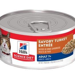 SCIENCE DIET HILL'S SCIENCE DIET FELINE CAN MATURE GOURMET TURKEY 2.9OZ