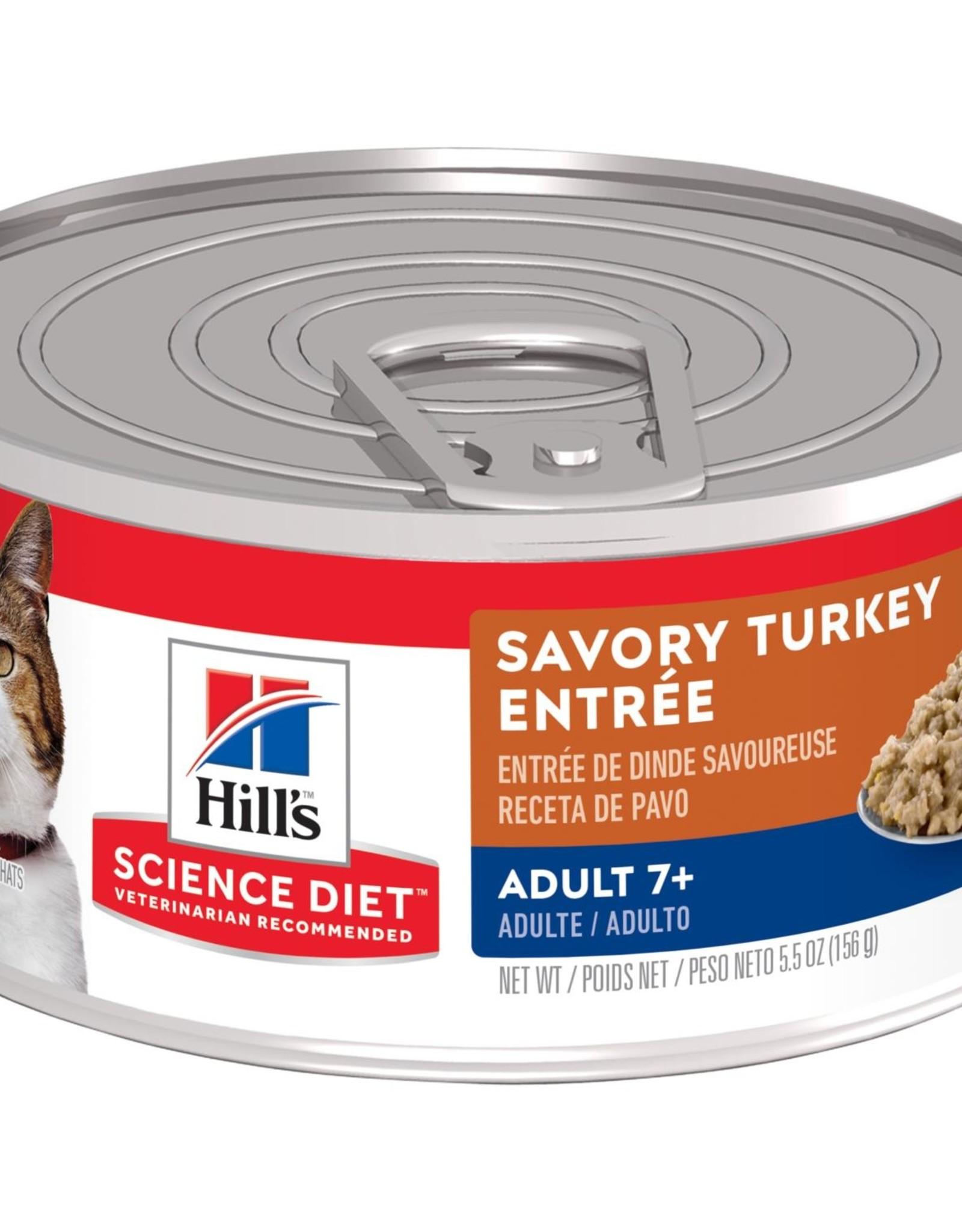SCIENCE DIET HILL'S SCIENCE DIET FELINE CAN MATURE GOURMET TURKEY 2.9OZ CASE OF 24