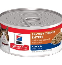 SCIENCE DIET HILL'S SCIENCE DIET FELINE CAN MATURE GOURMET TURKEY 2.9OZ CASE OF 24