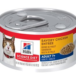 SCIENCE DIET HILL'S SCIENCE DIET FELINE CAN MATURE SAVORY CHICKEN 7+ 5.5OZ CASE OF 24