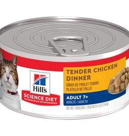 SCIENCE DIET HILL'S SCIENCE DIET FELINE CAN MATURE TENDER CHICKEN DINNER 5.5OZ