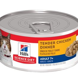 SCIENCE DIET HILL'S SCIENCE DIET FELINE CAN MATURE TENDER CHICKEN DINNER 5.5OZ CASE OF 24
