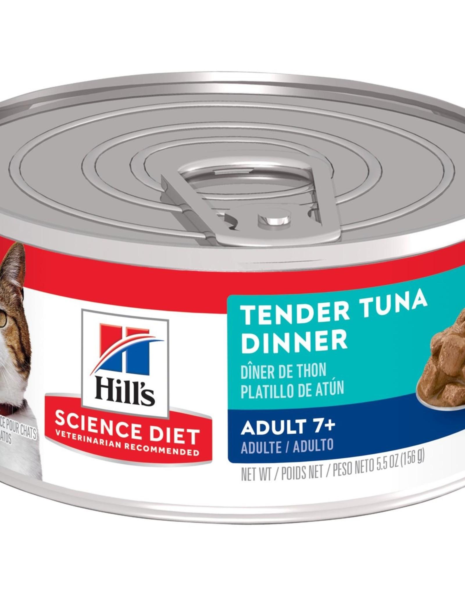SCIENCE DIET HILL'S SCIENCE DIET FELINE CAN MATURE TENDER TUNA DINNER 5.5OZ CASE OF 24