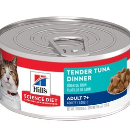 SCIENCE DIET HILL'S SCIENCE DIET FELINE CAN MATURE TENDER TUNA DINNER 5.5OZ CASE OF 24