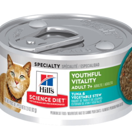HILL'S HILL'S SCIENCE DIET FELINE ADULT 7+ YOUTHFUL VITALITY TUNA & VEGETABLE STEW 2.9OZ