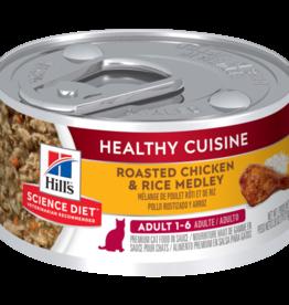 SCIENCE DIET HILL'S SCIENCE DIET FELINE HEALTHY CUISINE ADULT CHICKEN & RICE 2.8OZ