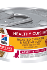 SCIENCE DIET HILL'S SCIENCE DIET FELINE HEALTHY CUISINE ADULT CHICKEN & RICE 2.8OZ CASE OF 24