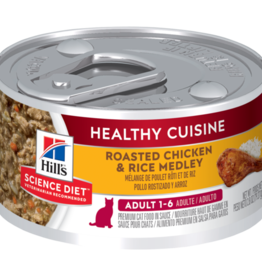 HILL'S HILL'S SCIENCE DIET FELINE HEALTHY CUISINE ADULT CHICKEN & RICE 2.8OZ CASE OF 24