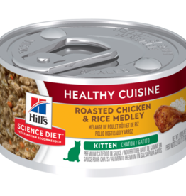 SCIENCE DIET HILL'S SCIENCE DIET FELINE HEALTHY CUISINE KITTEN CHICKEN & RICE 2.8OZ