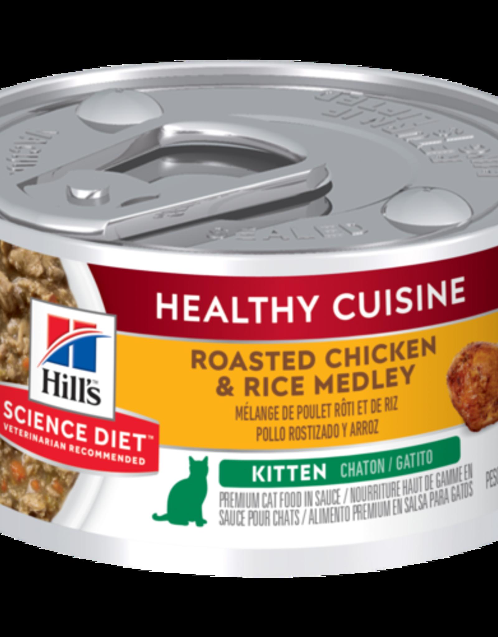 SCIENCE DIET HILL'S SCIENCE DIET FELINE HEALTHY CUISINE KITTEN CHICKEN & RICE 2.8OZ CASE OF 24