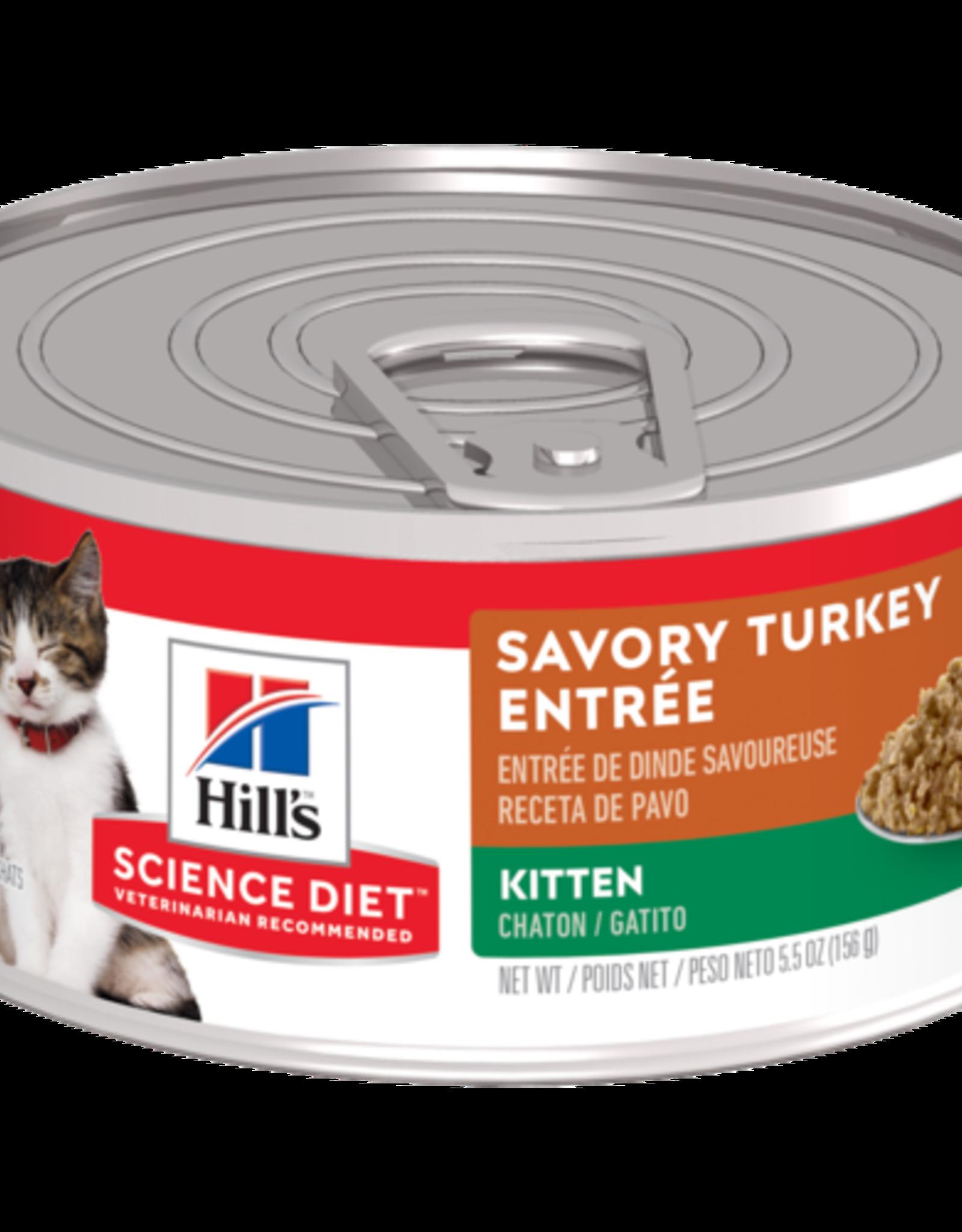 SCIENCE DIET HILL'S SCIENCE DIET FELINE CAN KITTEN TURKEY & GIBLETS 5.5OZ CASE OF 24