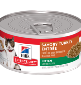 SCIENCE DIET HILL'S SCIENCE DIET FELINE CAN KITTEN TURKEY & GIBLETS 5.5OZ CASE OF 24