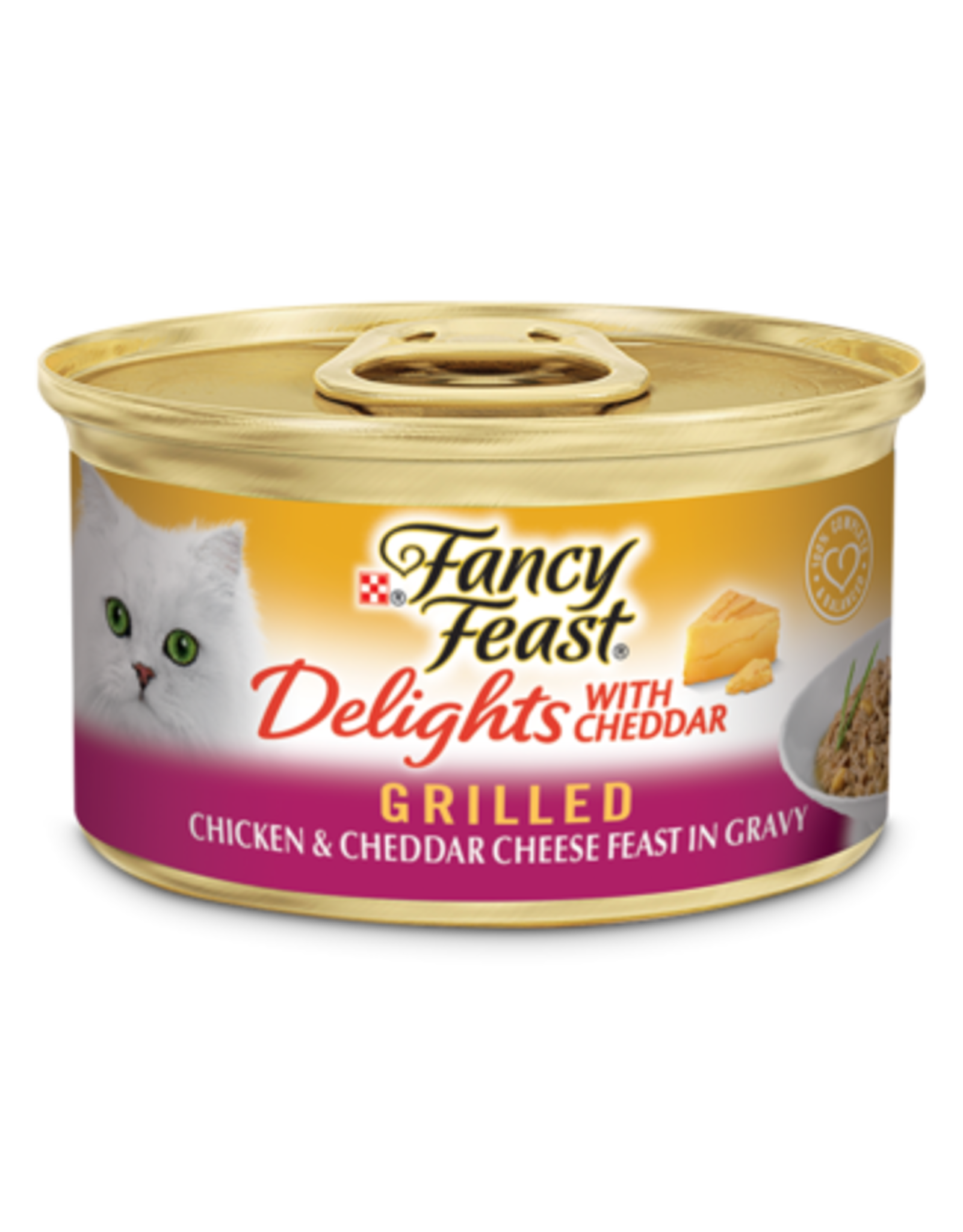 FANCY FEAST DELIGHTS CHICKEN & CHEESE 3OZ CAN