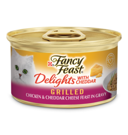 FANCY FEAST DELIGHTS CHICKEN & CHEESE 3OZ CASE OF 24