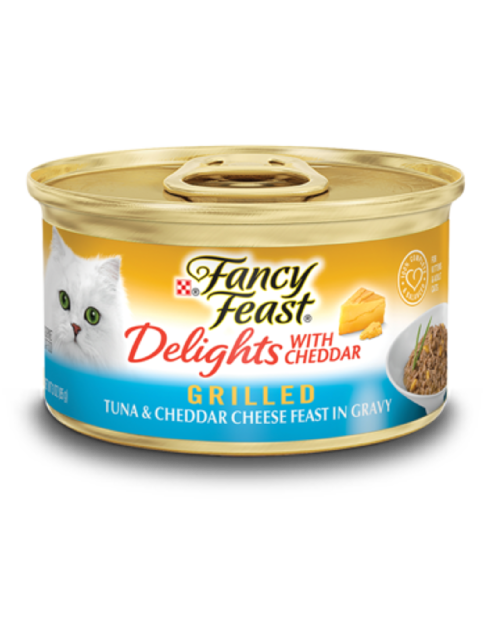 FANCY FEAST DELIGHTS TUNA & CHEESE 3OZ CASE OF 24