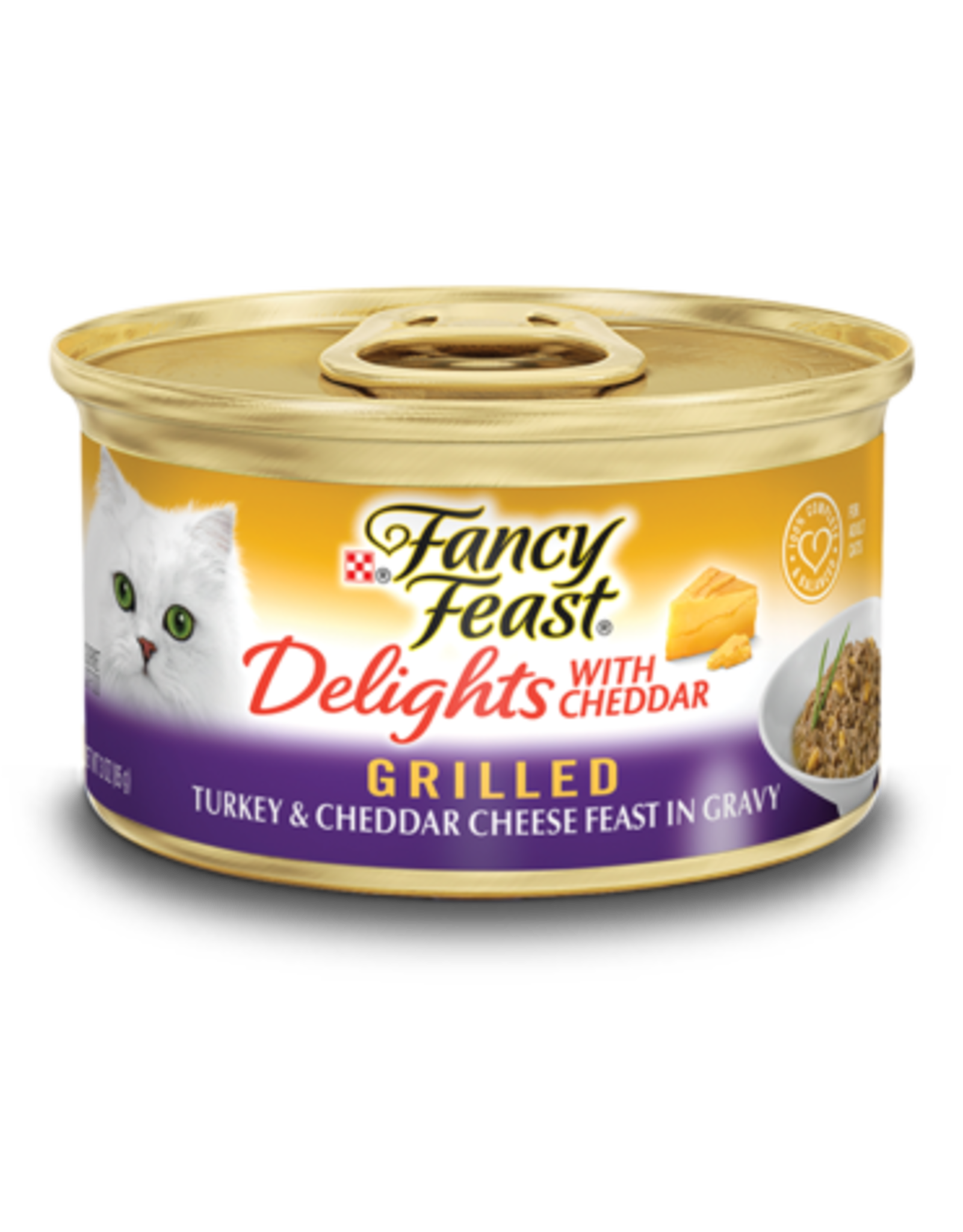 FANCY FEAST DELIGHTS TURKEY & CHEESE 3OZ CAN