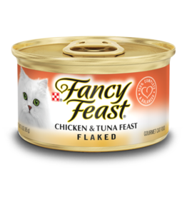 FANCY FEAST FLAKED CHICKEN & TUNA FEAST 3OZ
