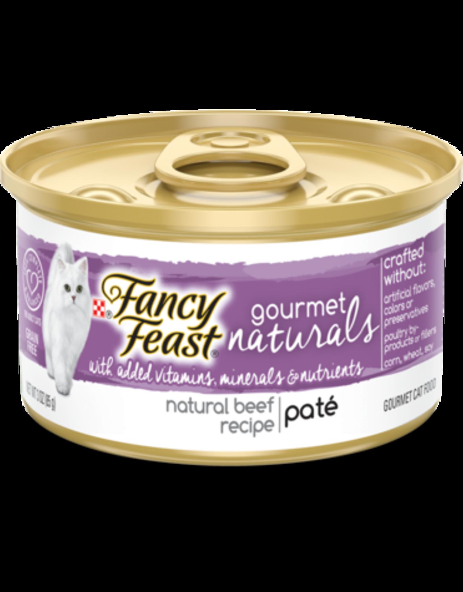 FANCY FEAST GOURMET NATURALS TENDER BEEF PATE 3OZ CASE OF 12