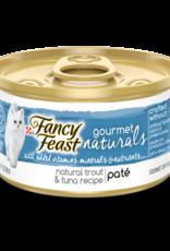 FANCY FEAST GOURMET NATURALS TROUT & TUNA PATE 3OZ CASE OF 12