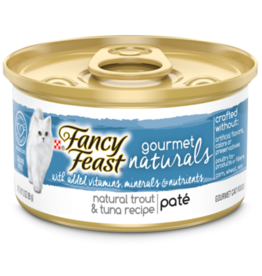 FANCY FEAST GOURMET NATURALS TROUT & TUNA PATE 3OZ CASE OF 12