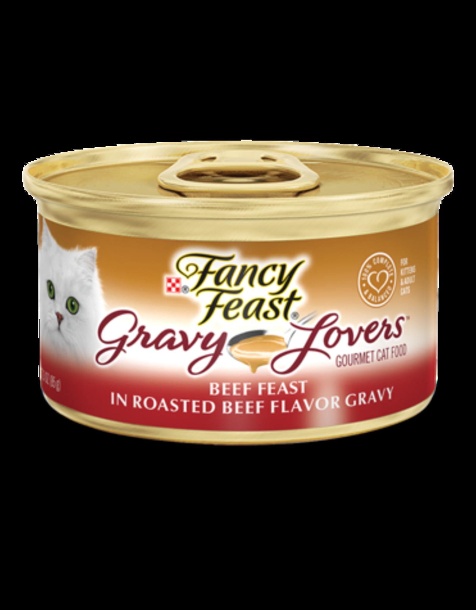 FANCY FEAST GRAVY LOVERS BEEF 3OZ CASE OF 24