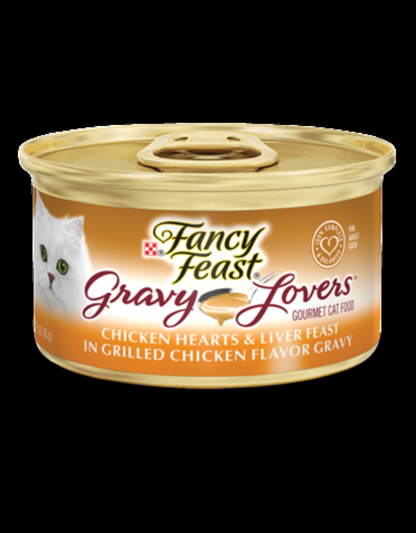 FANCY FEAST GRAVY LOVERS CHICKEN HEARTS/LIVERS 3OZ CASE OF 24