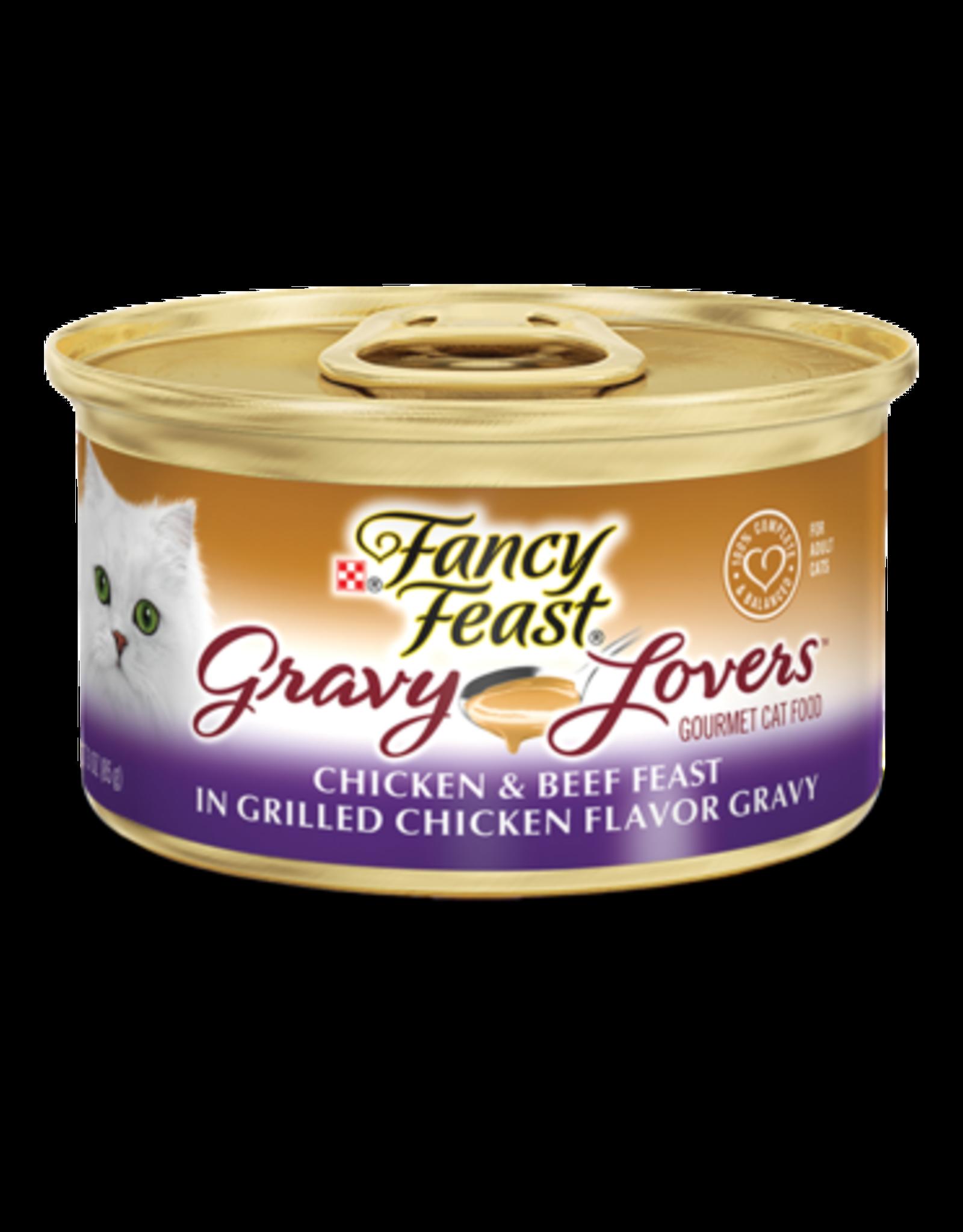 FANCY FEAST GRAVY LOVERS CHICKEN/BEEF 3OZ CASE OF 24