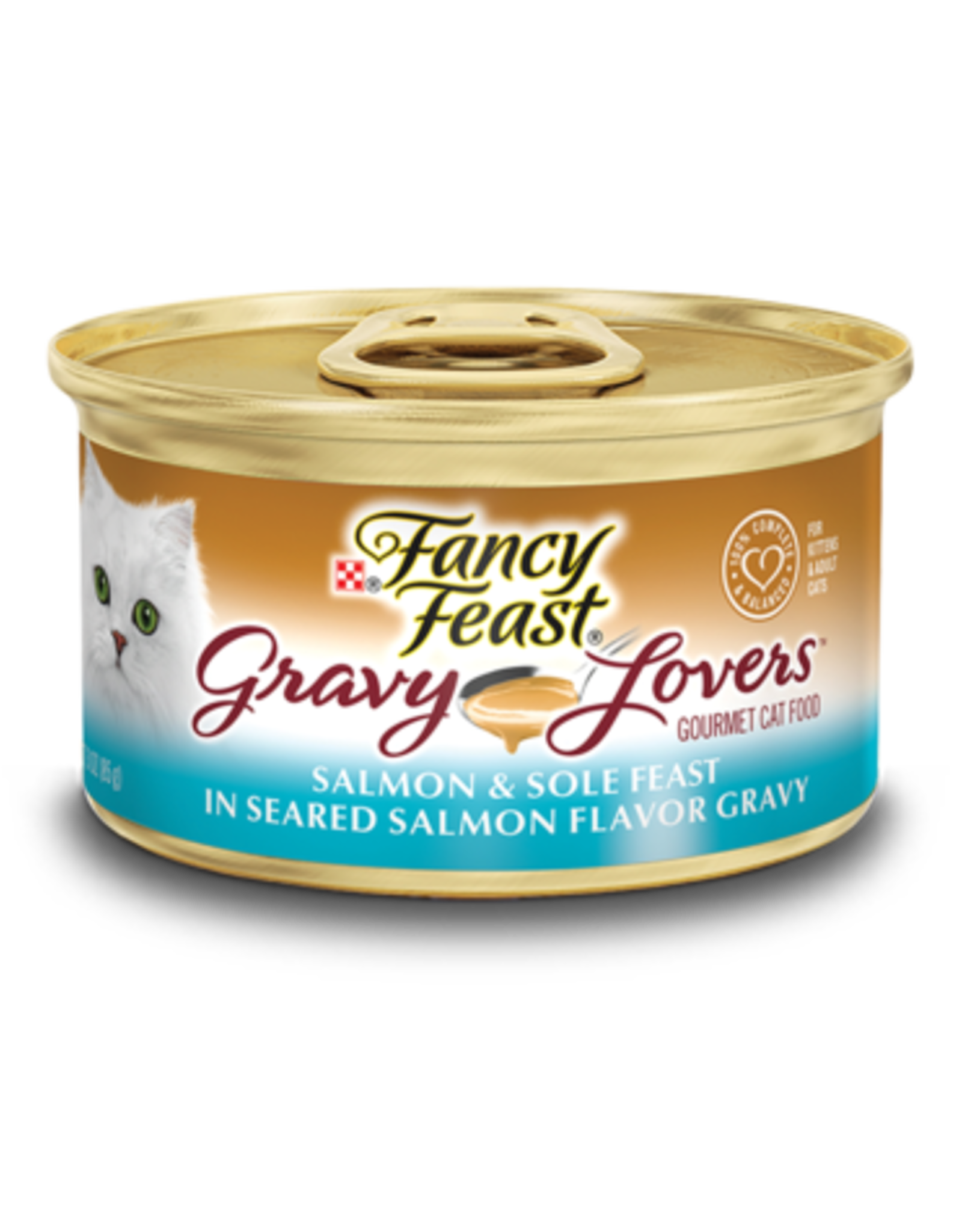 FANCY FEAST GRAVY LOVERS SALMON & SOLE 3OZ CASE OF 24