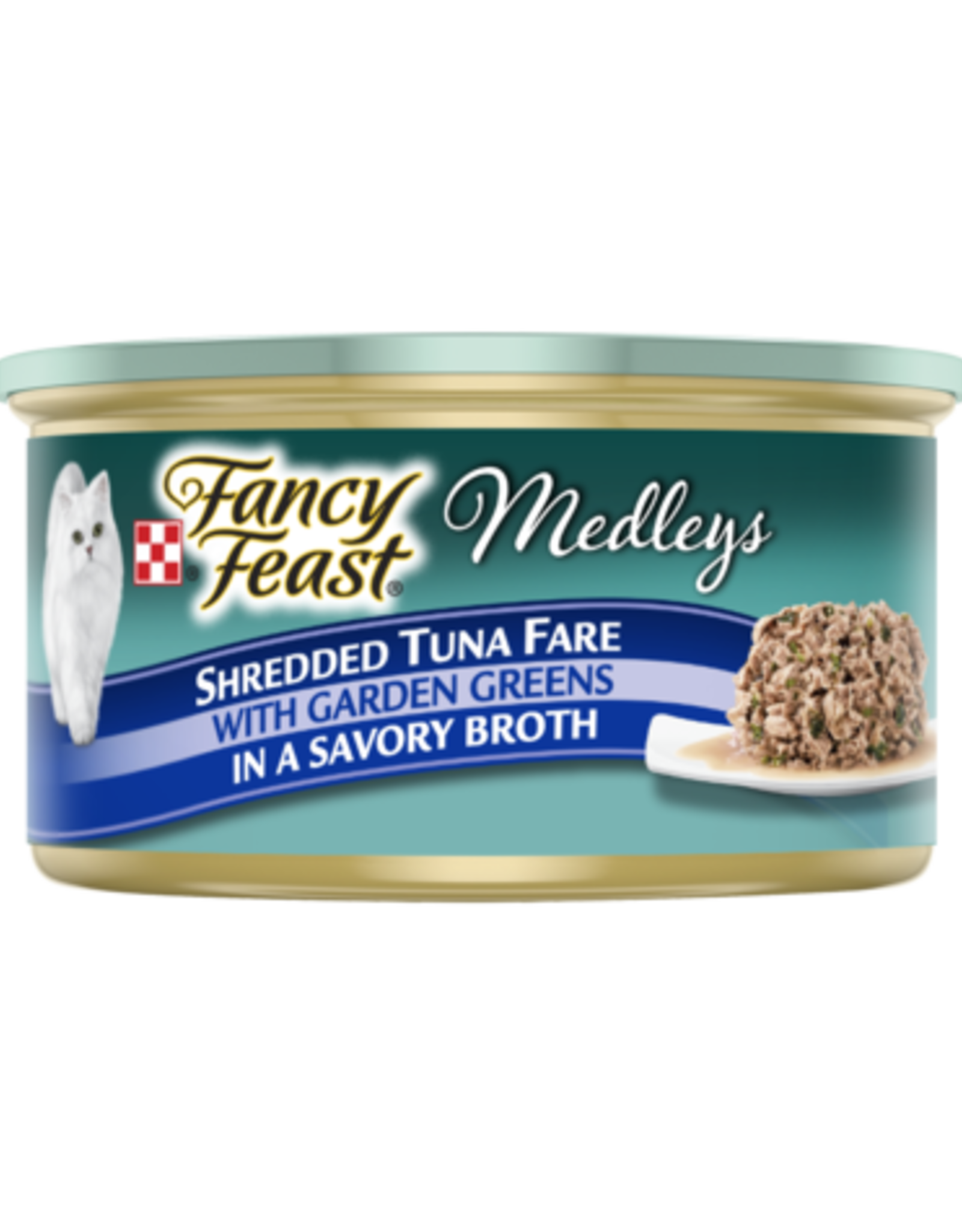 FANCY FEAST MEDLEYS SHREDDED TUNA CAN 3OZ CASE OF 24