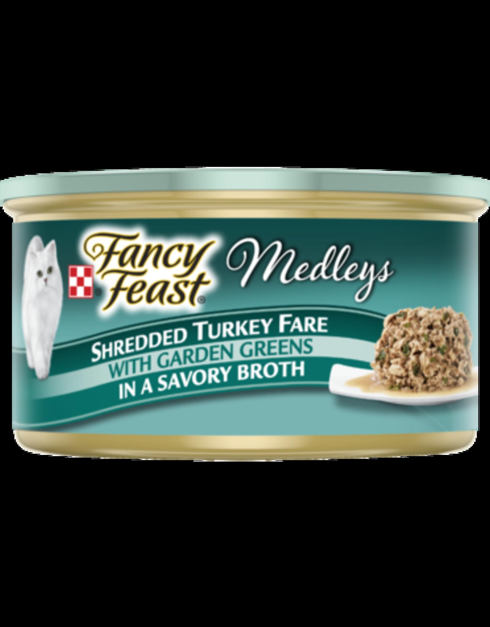 FANCY FEAST MEDLEYS SHREDDED TURKEY 3OZ CAN