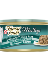 FANCY FEAST MEDLEYS SHREDDED TURKEY 3OZ CASE OF 24