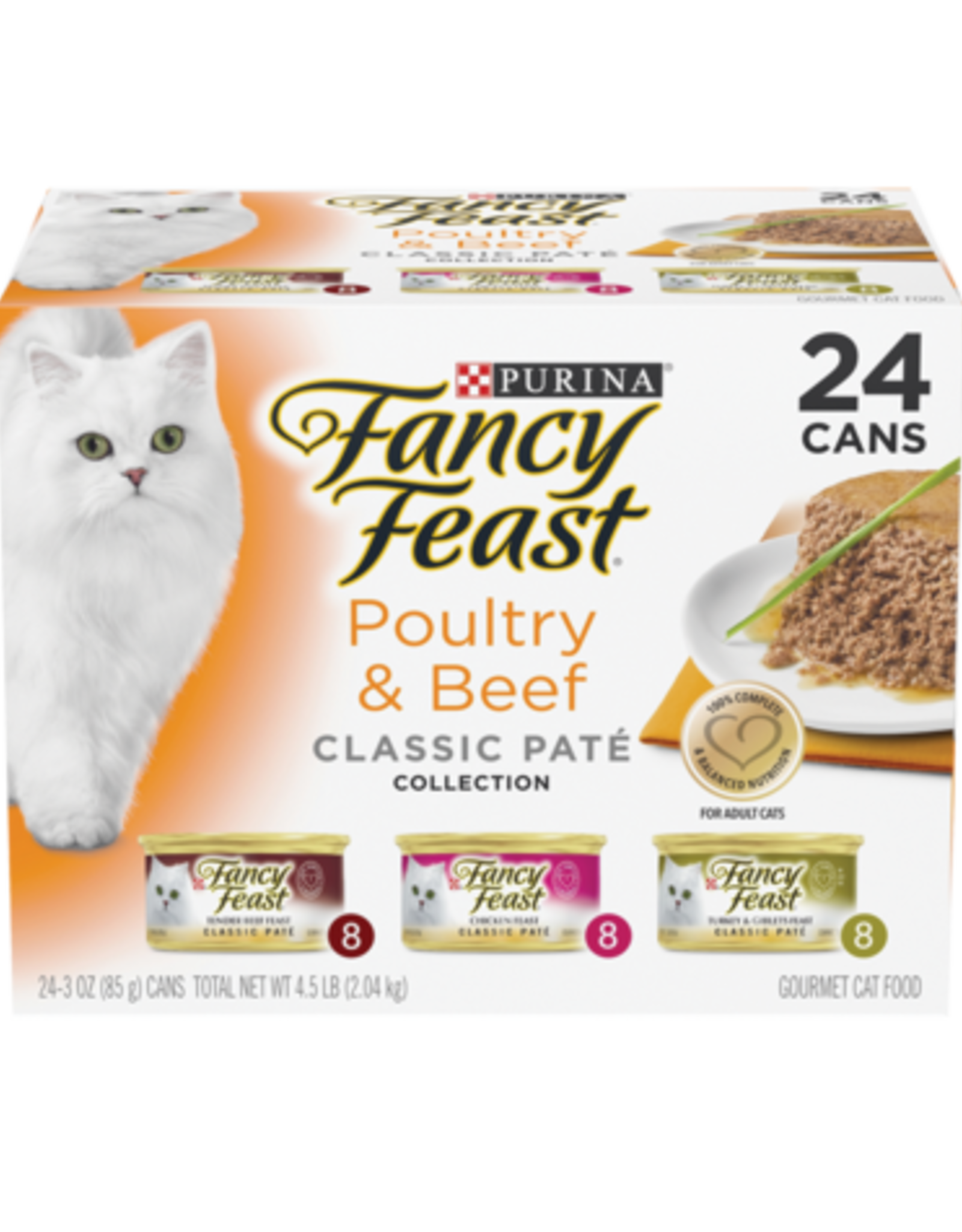 FANCY FEAST POULTRY & BEEF CLASSIC PATE VARIETY CANS 24 PACK