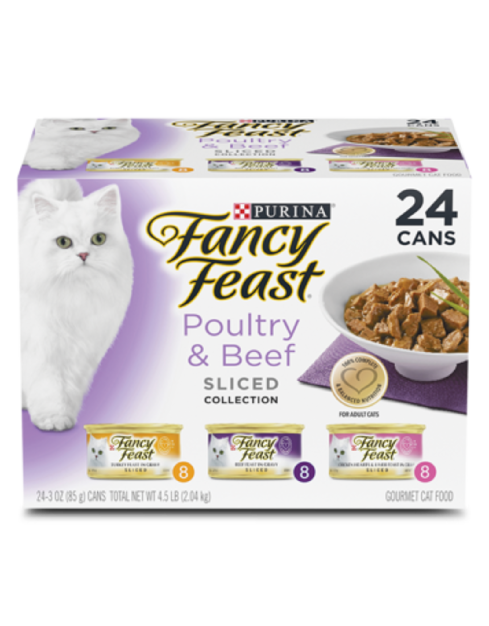 FANCY FEAST POULTRY & BEEF SLICED VARIETY CANS 24 PACK