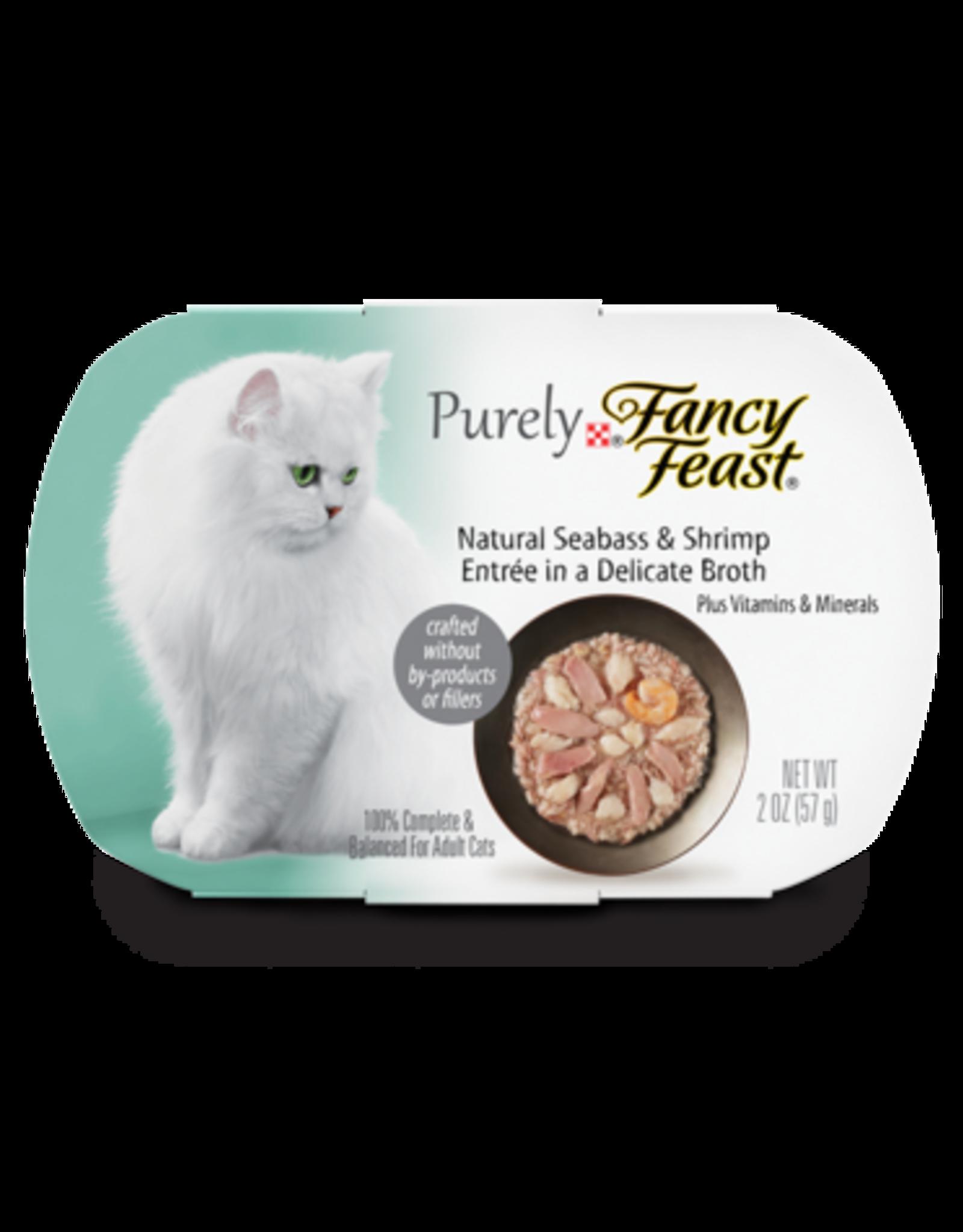FANCY FEAST PURELY BASS & SHRIMP 2OZ CASE OF 10