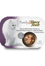 FANCY FEAST PURELY CHICKEN & BEEF IN BROTH 2OZ