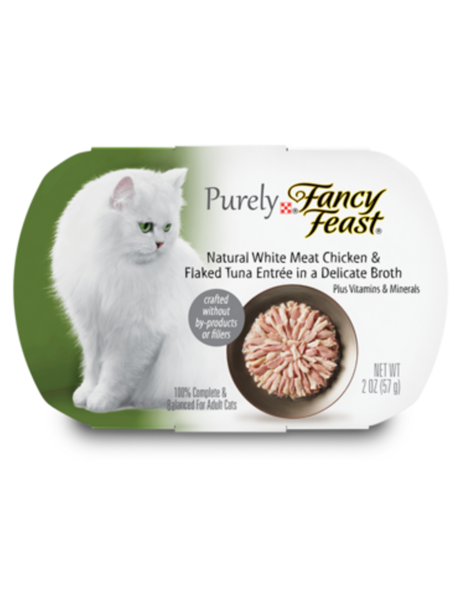 FANCY FEAST PURELY CHICKEN & TUNA IN BROTH 2OZ CASE OF 10