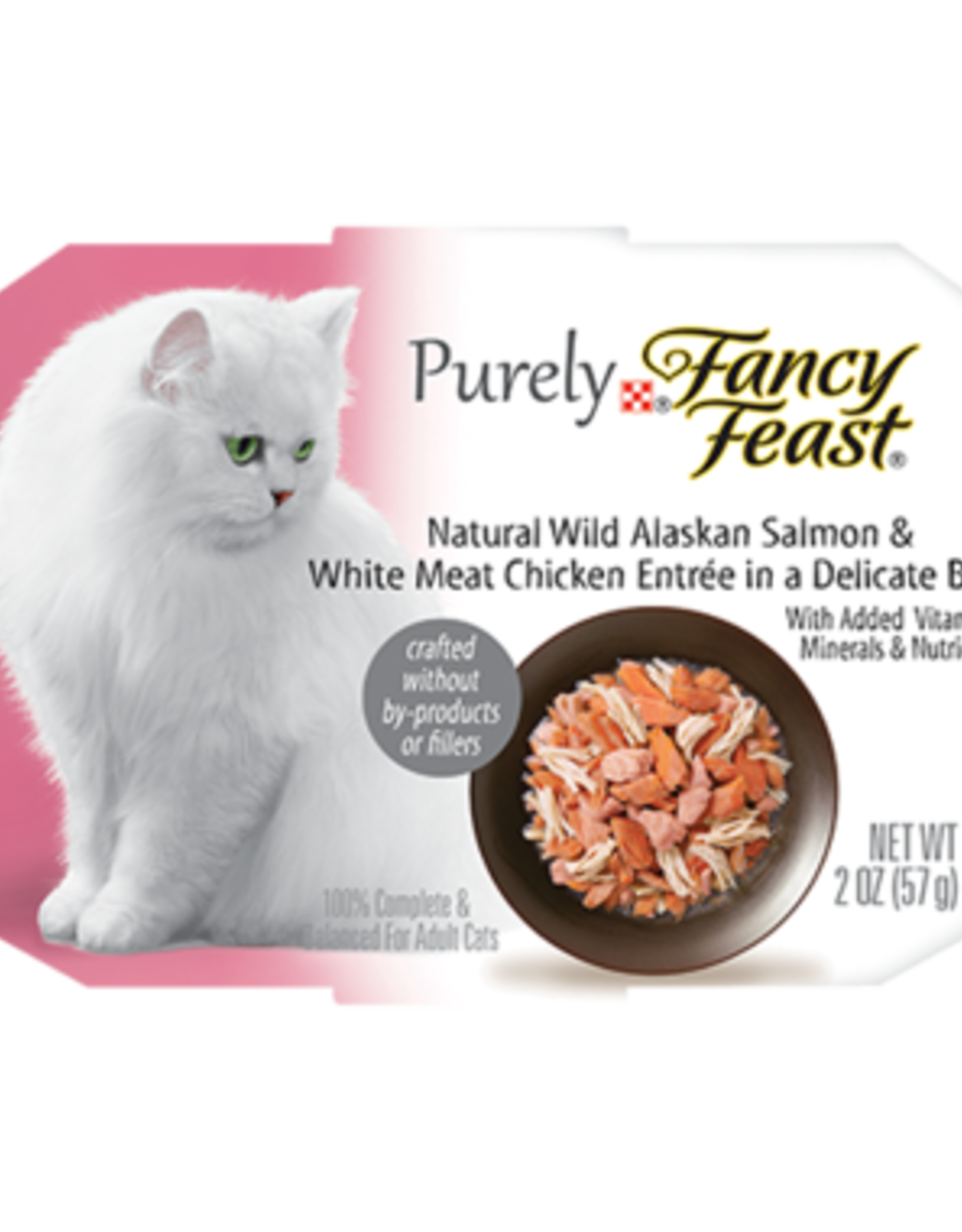 FANCY FEAST PURELY SALMON & CHICKEN IN BROTH 2OZ CASE OF 10